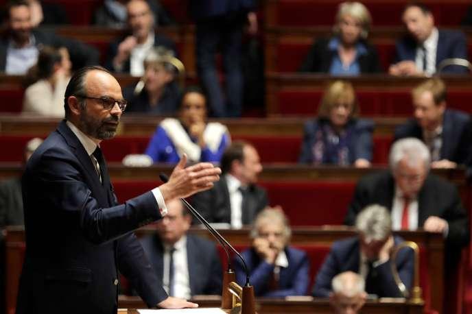 Le premier ministre, Edouard Philippe, le 9 avril à l'Assemblée nationale.