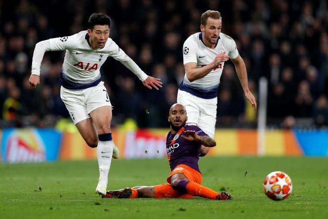 Au match aller des quarts de finale de la Ligue des champions, le 9 avril, Manchester City a perdu (1-0) contre les Londoniens de Tottenham.