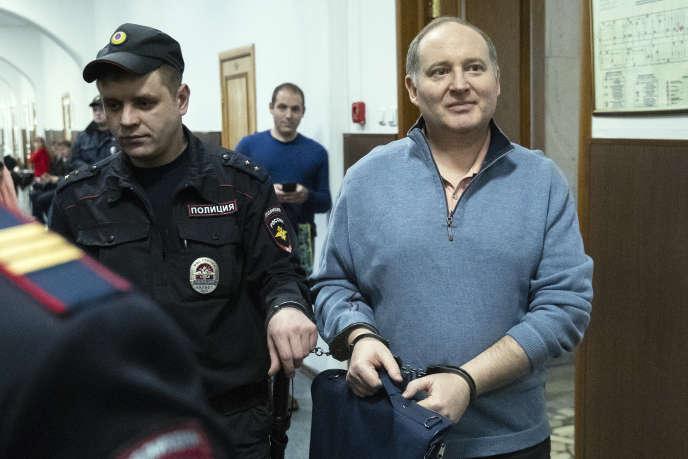 Philippe Delpal,directeur financier du fonds d'investissement Baring Vostok, le 9 avril 2019, au tribunal de Moscou.