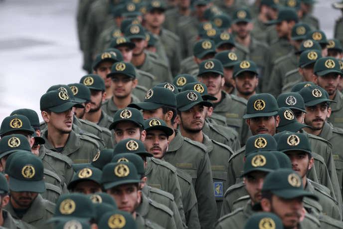 Le corps d'élite des gardiens de la révolution à Téhéran, le 11 février.