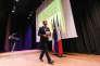 Emmanuel Macron, à l'Ecole supérieure des affaires, à Beyrouth, le 23 janvier 2017.