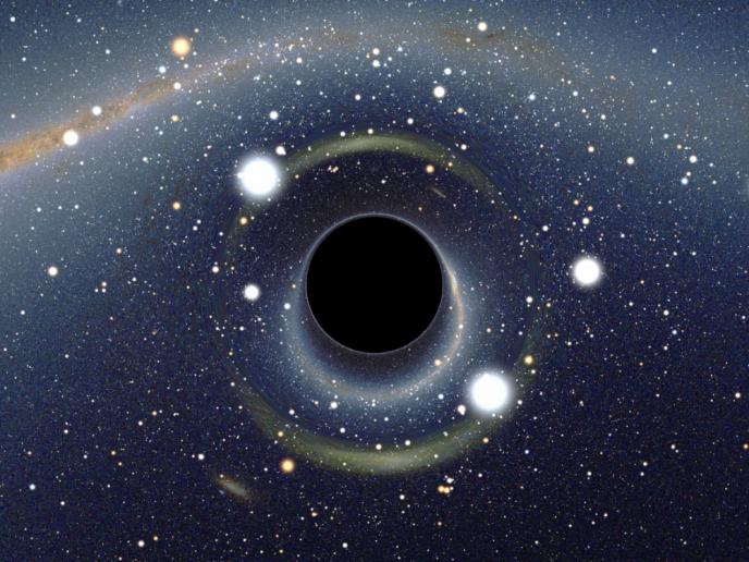Simulation d'un trou noir stellaire réalisée par l'astrophysicien Alain Riazuelo.