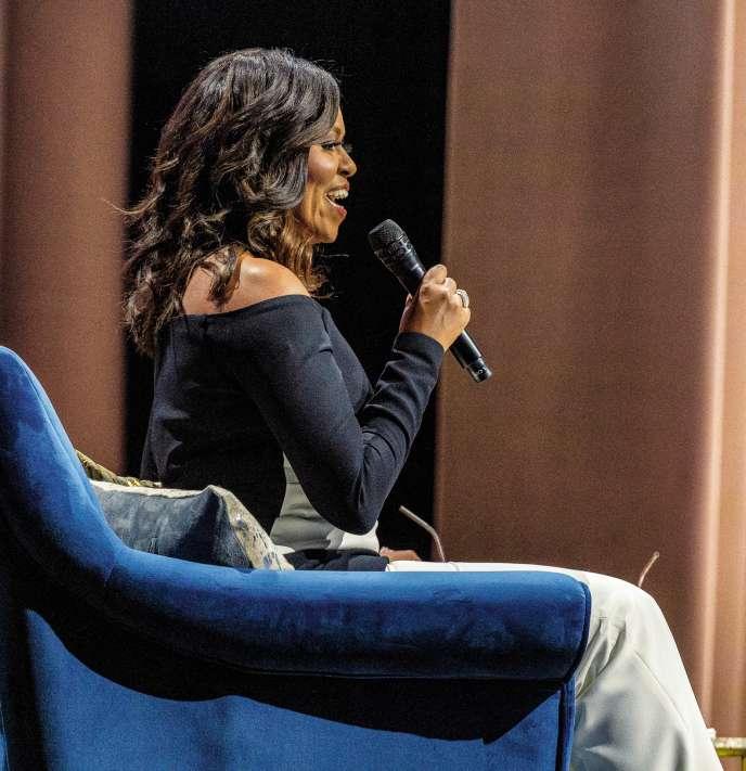 Michelle Obama en tournée pour la promotion de son best-seller «Devenir», à Detroit en décembre 2018.
