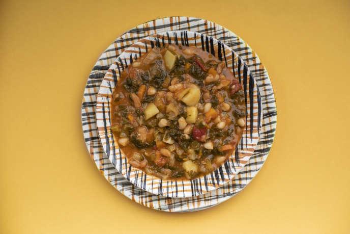 La soupe toscane de légumes.
