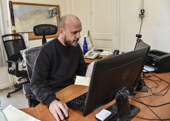 Aymeric Vincenot, chef du bureau de l'AFP à Alger, le 1ermars 2019.