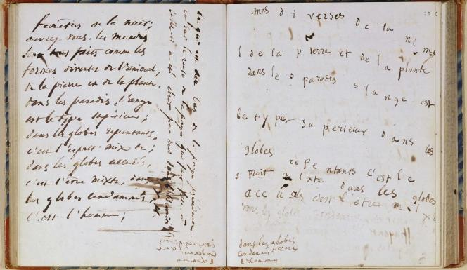 Victor Hugo, carnet de séances spirites, texte dicté dans le noir par les esprits. Procès-verbal de la séance du 4 juin 1855.