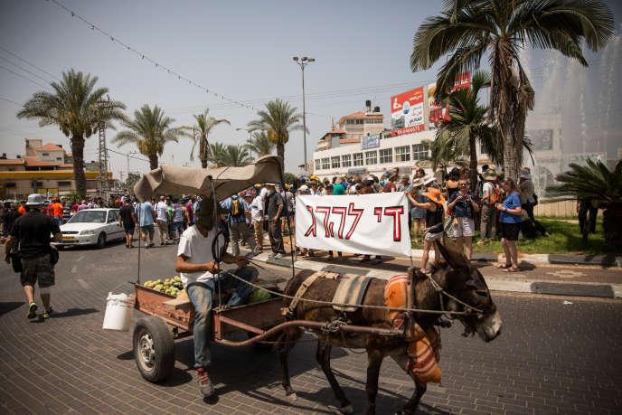 Rassemblement pour la paix à Tira, en Israël, ville natale de Sayed Kashua, en juillet 2014.