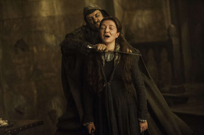 Le personnage de Catelyn Stark (Michelle Fairley), dans un extrait de la série « Game of Thrones ».