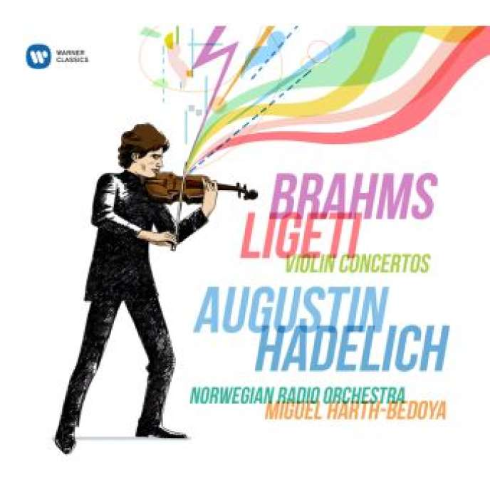 Pochette de l'album consacré à Brahms et Ligeti par le violoniste Augustin Hadelich.