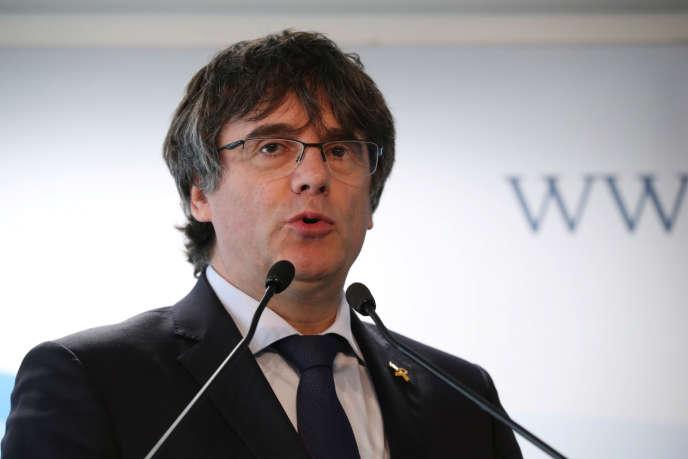 Carles Puigdemont, le 10 avril à Bruxelles.
