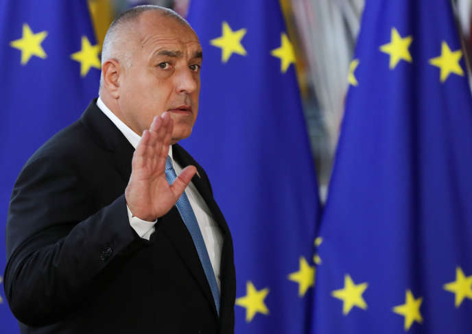 Le premier ministre bulgare, Boïko Borissov, à Bruxelles, le 10 avril.
