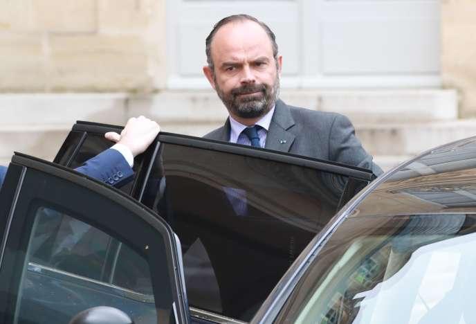 Edouard Philippe, à l'Elysée, mercredi 10 avril.