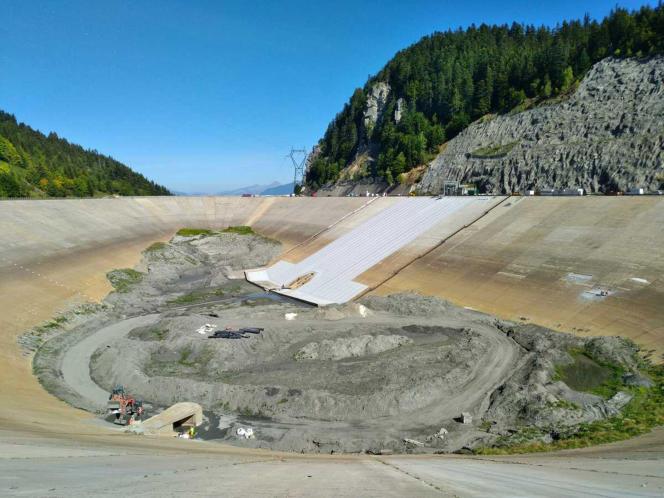 La centrale hydroélectrique de La Coche (Savoie), exploitée par EDF, en septembre 2018.