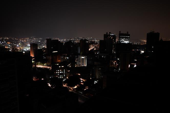 Vue du quartier de l'Altamira, à Caracas, le 26mars, lors d'une précédente coupure decourant.