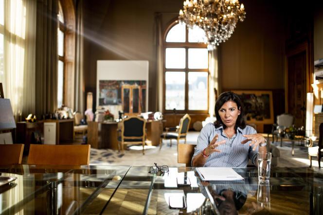 Anne Hidalgo à l'Hôtel de ville de Paris, le 20 septembre 2018.