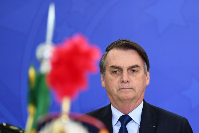 Le président brésilien Jair Bolsonaro le 5 avril à Brasilia.