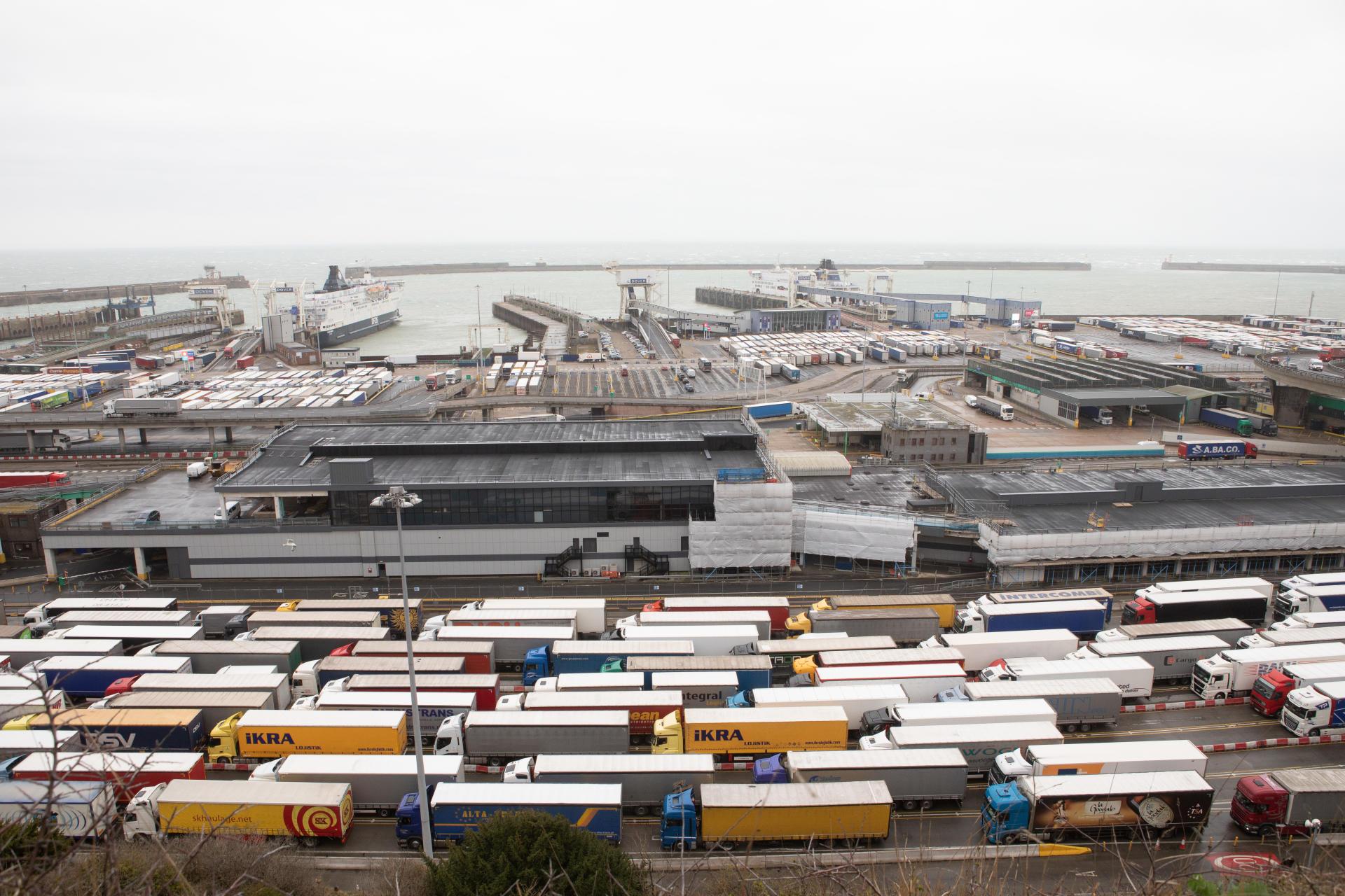 Le port et le terminal des ferries de Douvres, le 12 mars 2019.