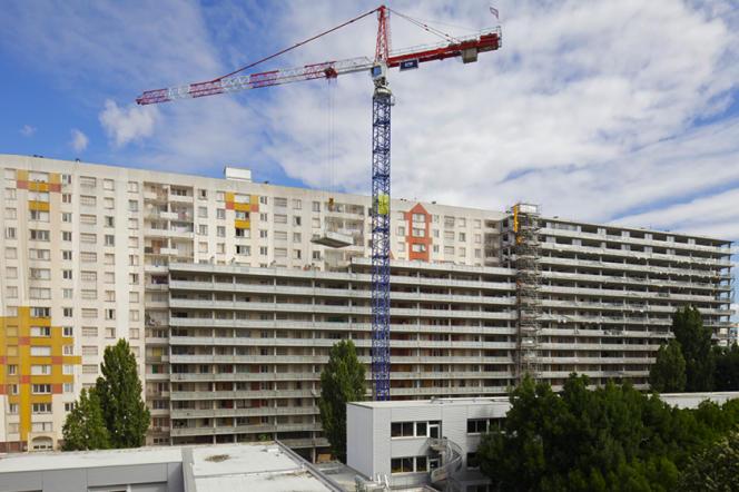Vue du programme GHI en cours à la cité du Grand Parc à Bordeaux.