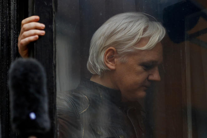 Julian Assange, à Londres, en 2017.
