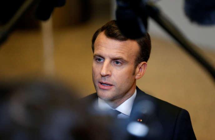 Emmanuel Macron, le 11 avril à Bruxelles.