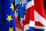 Theresa May, première ministre britannique, le 10 avril, au Conseil européen àBruxelles.