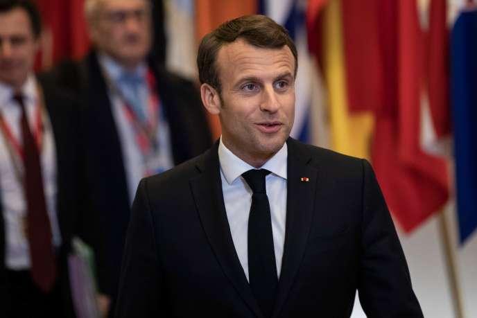 Emmanuel Macron le 11 avril à Bruxelles.