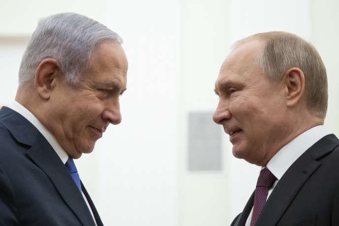Le président russe, Vladimir Poutine, et le premier ministre israélien, Benyamin Nétanyahou, lors de leur rencontre à Moscou, le 4 avril.