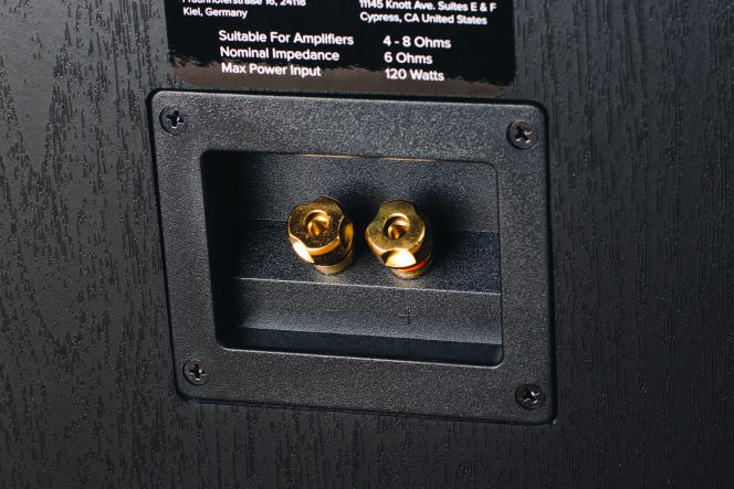 Les B6.2 utilisent des bornes de raccordement de haute qualité pour brancher le câble de l'enceinte.