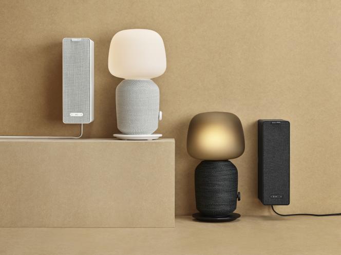 Des modèles de la collection d'enceintes fruits de la collaboration entre IKEA et Sonos.