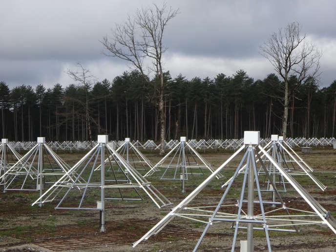 NenuFAR, réseau d'antennes hypersensibles aux signaux radio de la station de radioastronomie de Nançay, dans le Cher. Station de Radioastronomie/Observatoire de Paris/CNRS