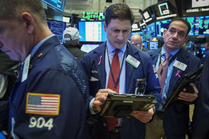 Des traders à Wall Street, en octobre 2018.