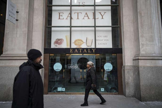 Un concept-store Eataly, à New York, en mars.