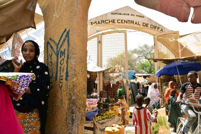 Le marché central de la ville de Diffa, dans le sud-est du Niger, en juin 2016.