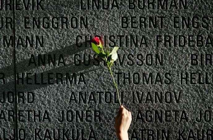 Memorial aux victimes de l'«Estonia», en 2004 à Stockholm.