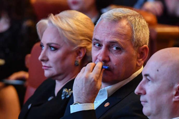 Le chef du Parti social-démocrate roumain, Liviu Dragnea, le 16 décembre 2018 au Parlement roumain, à Bucarest.