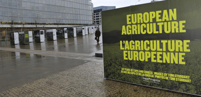 Lors d'une exposition sur l'agriculture européenne, en décembre 2008 à Bruxelles.