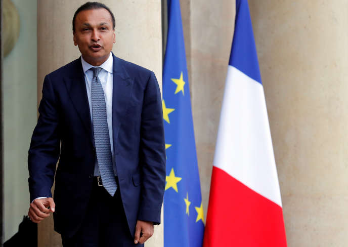 Anil Ambani, le patron de Reliance Entertainment, à l'Elysee, le 21 février 2017.