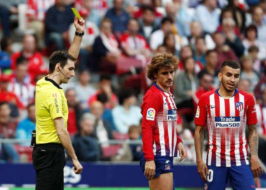 Griezmann averti contre le Celta Viga, le 13 avril, et donc suspendu pour le match suivant, contre Eibar.
