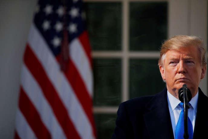 Le président Donald Trump, le 15 février à la Maison Blanche.