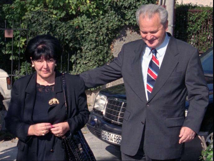 Mirjana Markovic et Slobodan Milosevic, en novembre 1996.
