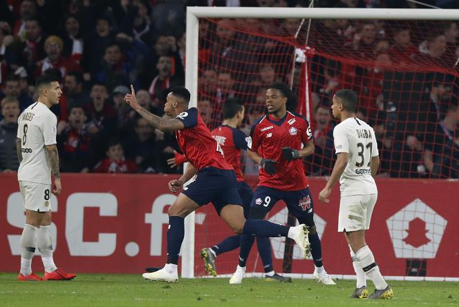 Gabriel auteur du 4e but de Lille face au PSG.