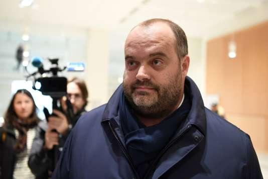 Jacques Poujol, directeur des achats du fournisseur français de viande Spanghero, au tribunal de Paris, le 21janvier.