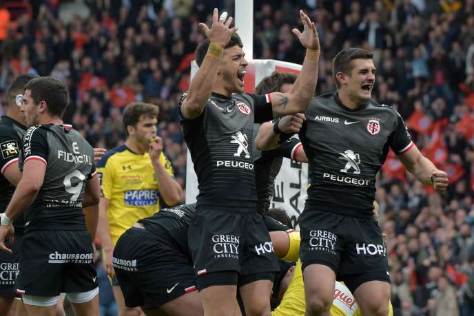Les Toulousains contre Clermont, le 14 avril 2019.