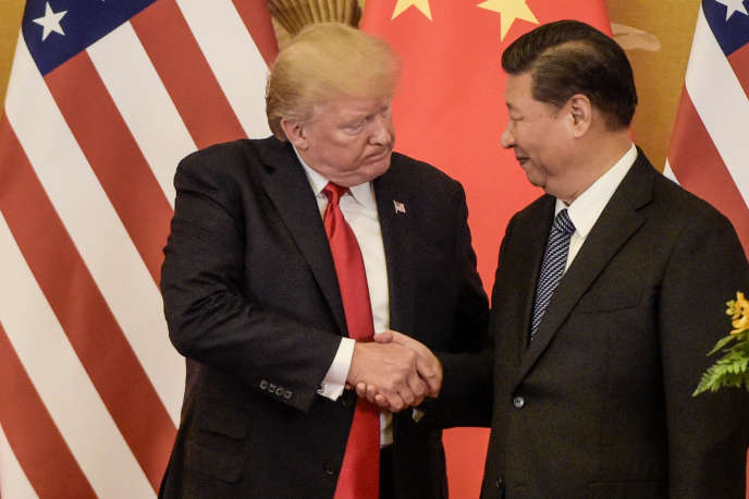 Donald Trump, président des Etats-Unis, et son homologue chinois, Xi Jinping, le 9 novembre 2017 à Pékin.