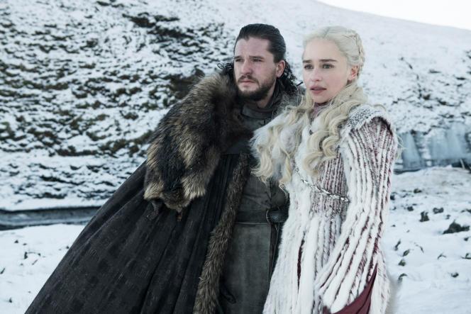 Kit Harington (Jon Snow) et Emilia Clarke (Daenerys Targaryen) dans la série«Game of Thrones. »