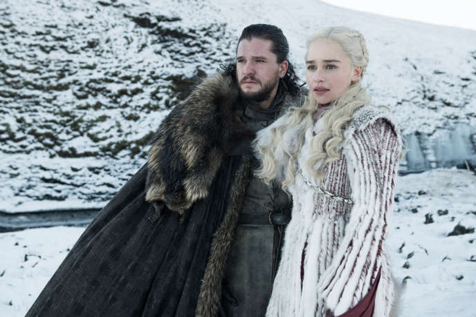 Kit Harington (Jon Snow) et Emilia Clarke (Daenerys Targaryen) dans la série « Game of Thrones. »