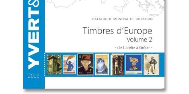 « Catalogue mondial de cotation 2019. Timbres d'Europe. Volume 2 (de Carélie à Grèce) », Yvert et Tellier, 1008 pages, 54,90 euros.