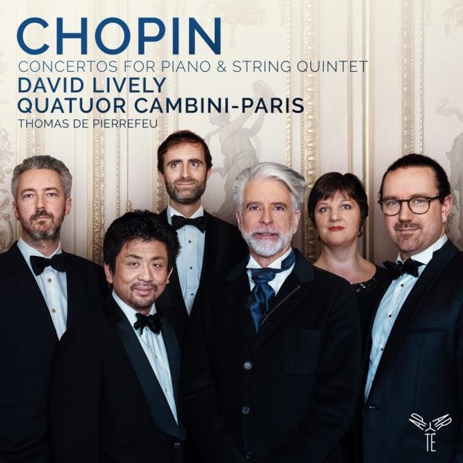 Pochette des «Concertos pour piano» deFrédéric Chopin par David Lively.