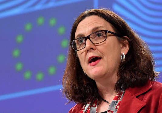 La commissaire européenne au commerce, Cecilia Malmström, à Bruxelles, le 18 janvier.