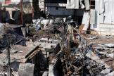 Le district de Jeraf, à Sanaa, au Yémen, après un bombardement aérien, le 10 avril.